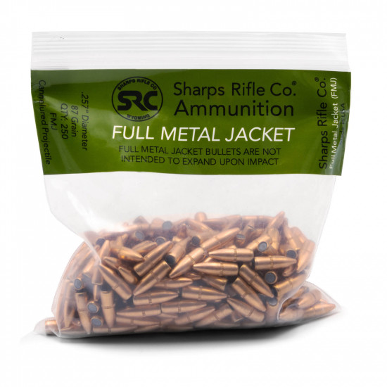Sharps Rifle Co. Ammunition 25-45 Sharps 87 Grain Full Metal Jacket (FMJ) Bullet