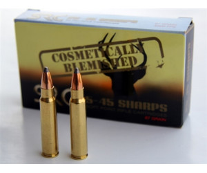Cosmetically Blemished 25-45 Sharps 87 Grain Hot-Cor Cartridge (20 Cartridges)